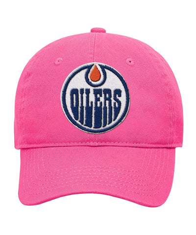 EDMONTON OILERS GIRL S SLOUCH ADJUSTABLE HAT ... 8fd506c5a44e