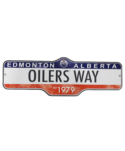 THE SPORTS VAULT EDMONTON OILERS STANDARD STREET SIGN