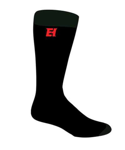 ELITE JR PRO-LINER BLACK SOCKS