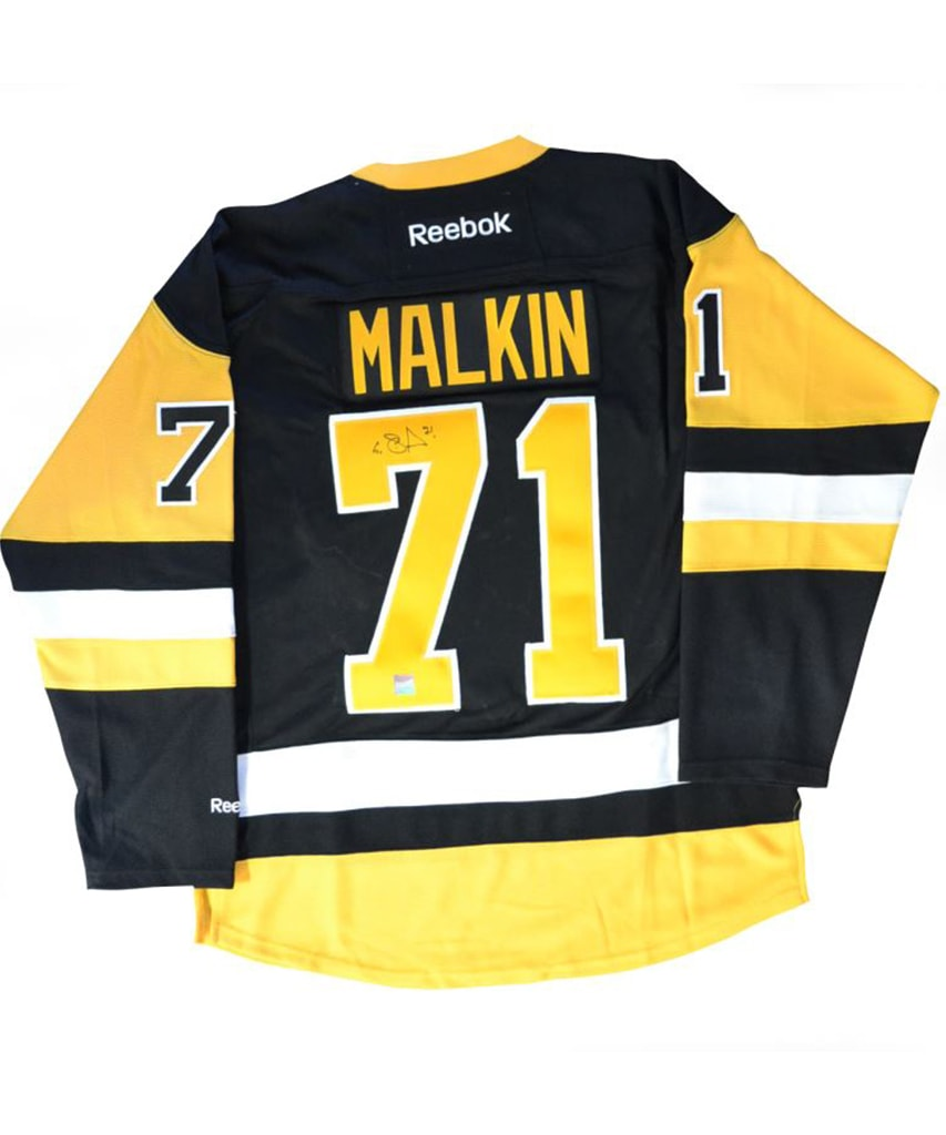 more photos 1ec10 e36c7 EVGENI MALKIN PITTSBURGH PENGUINS FRAMEWORTH AUTHENTIC SIGNED JERSEY
