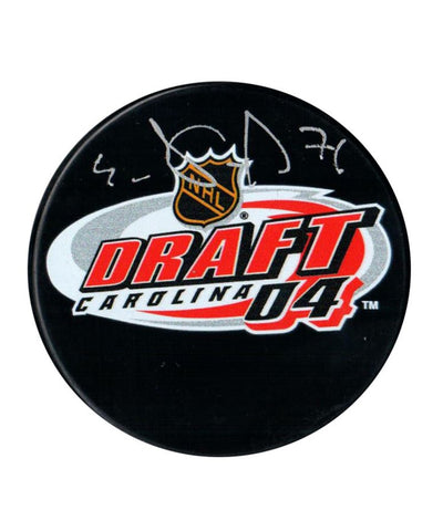 EVGENI MALKIN PITTSBURGH PENGUINS FRAMEWORTH AUTHENTIC SIGNED NHL DRAFT HOCKEY PUCK
