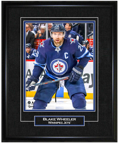 FRAMEWORTH BLAKE WHEELER WINNIPEG JETS FRAMED 8X10 PRINT
