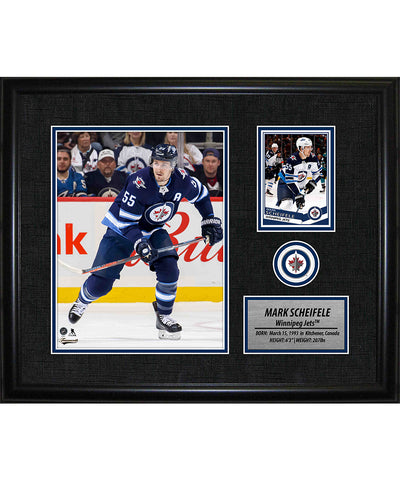FRAMEWORTH MARK SCHEIFLE WINNIPEG JETS FRAMED PHOTOCARD PRINT