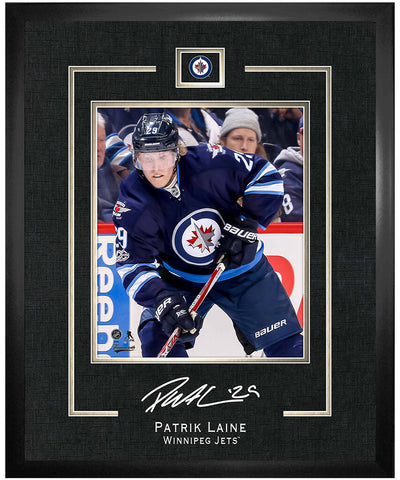 FRAMEWORTH PATRIK LAINE WINNIPEG JETS FRAMED