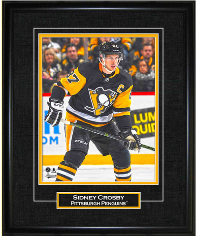 FRAMEWORTH SIDNEY CROSBY PITTSBURGH PENGUINS FRAMED 8X10 PRINT