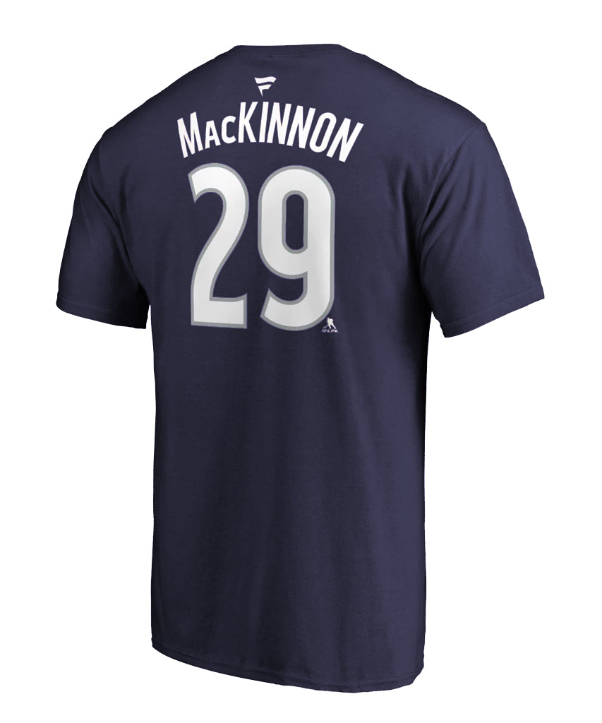 best website 352ad f05d6 NATHAN MACKINNON COLORADO AVALANCHE FANATICS MEN'S NAME AND NUMBER T SHIRT