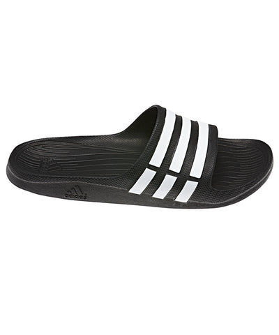 ADIDAS MEN'S DURAMO SLIDE SANDALS - BLACK
