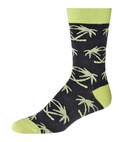 GONGSHOW MEN'S DRESS SOCKS - PALM TREES