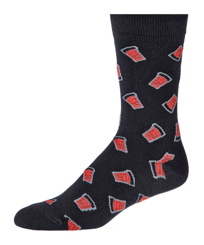 GONGSHOW MEN'S DRESS SOCKS - GOAL LIGHT