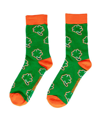 GONGSHOW MEN'S GONGSHOW CLOVER DRESS SOCKS - GREEN