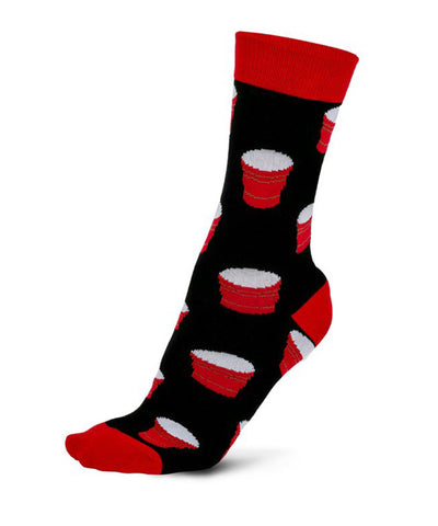 GONGSHOW MEN'S GONGSHOW DRESS SOLO CUP SOCKS - BLACK