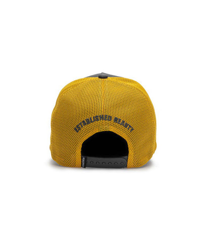 GONGSHOW MEN'S LIVIN' THE LIFESTYLE HAT - BLACK/YELLOW