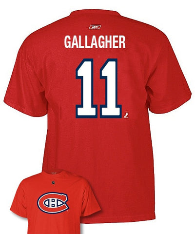 REEBOK MONTREAL CANADIENS GALLAGHER #11 SR T-SHIRT