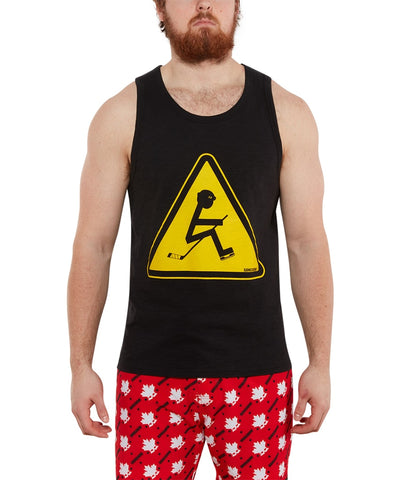 GONGSHOW MEN'S CAUTIONARY CELLY TANK