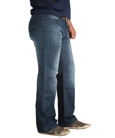 GONGSHOW QUADASAUROUS MEDIUM WASH NAVY JEANS