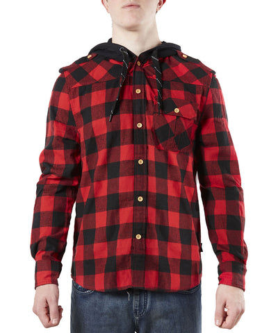 GONGSHOW PLAID FOR THE LAD SR HOODIE - RED