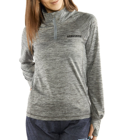 GONGSHOW OFF THE GLASS WOMEN'S 1/4 ZIP SWEATER