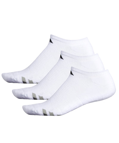 ADIDAS MEN'S CUSHION 3PK NO SHOW - WHITE