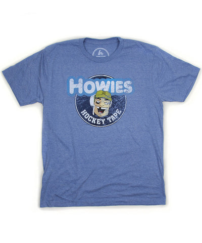 HOWIES HOCKEY MEN'S VINTAGE T SHIRT - BLUE