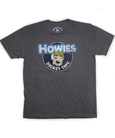 HOWIES HOCKEY MEN'S VINTAGE T SHIRT - GREY
