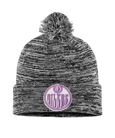 EDMONTON OILERS FANATICS MEN'S HOCKEY FIGHTS CANCER 2018 CUFFED KNIT TOQUE