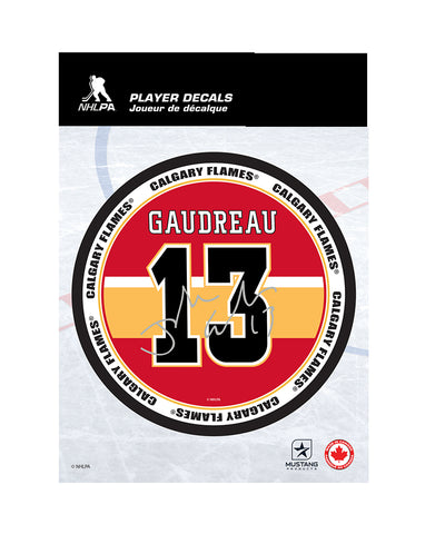 "JOHNNY GAUDREAU CALGARY FLAMES 5""X7"" PLAYER DECAL"
