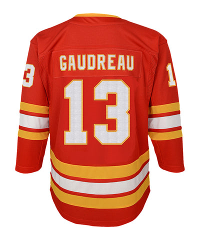 JOHNNY GAUDREAU CALGARY FLAMES JUNIOR PREMIER THIRD JERSEY