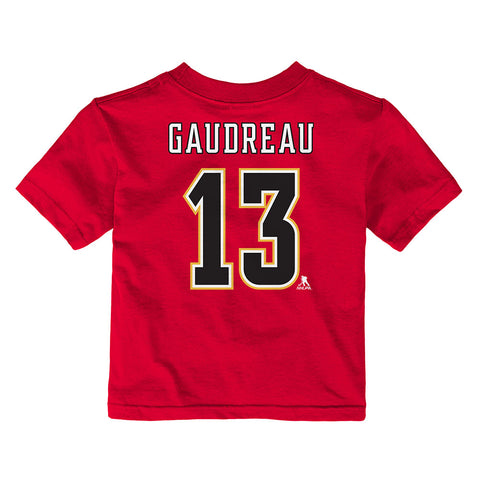JOHNNY GAUDREAU CALGARY FLAMES KIDS NAME AND NUMBER T SHIRT