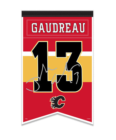 JOHNNY GAUDREAU CALGARY FLAMES PLAYER BANNER