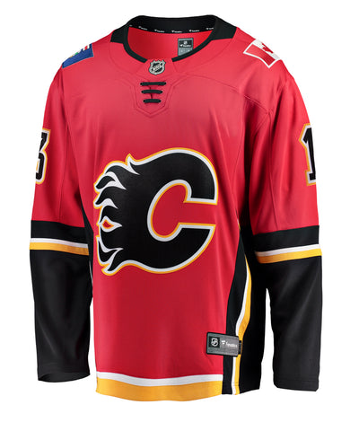 FANATICS CALGARY FLAMES JOHNNY GAUDREAU MENS BREAKAWAY JERSEY