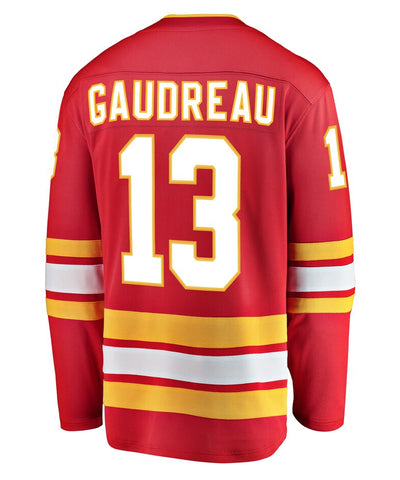 JOHNNY GAUDREAU CALGARY FLAMES FANATICS MEN'S BREAKAWAY THIRD JERSEY