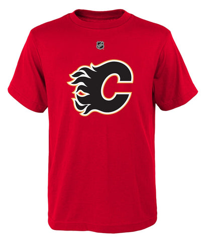 JOHNNY GAUDREAU CALGARY FLAMES JUNIOR PLAYER T SHIRT