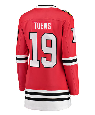 JONATHAN TOEWS CHICAGO BLACKHAWKS FANATICS WOMEN'S BREAKAWAY JERSEY