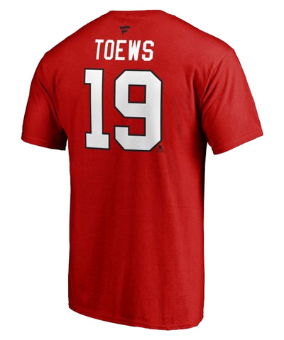 JONATHAN TOEWS CHICAGO BLACKHAWKS FANATICS MEN'S NAME AND NUMBER T SHIRT