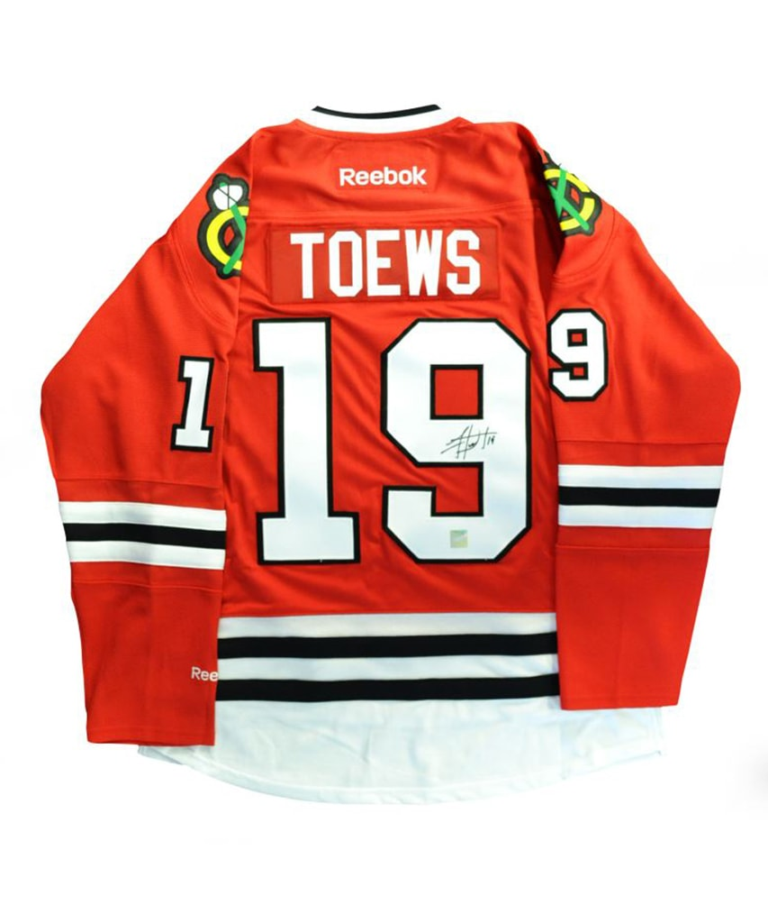 quality design aed64 d99f1 JONATHAN TOEWS CHICAGO BLACKHAWKS FRAMEWORTH AUTHENTIC SIGNED JERSEY