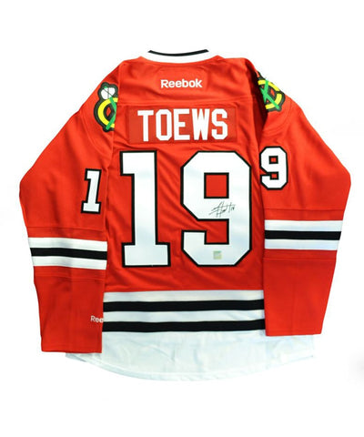 JONATHAN TOEWS CHICAGO BLACKHAWKS FRAMEWORTH AUTHENTIC SIGNED JERSEY