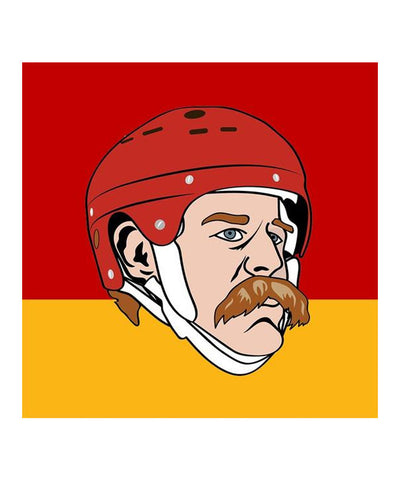 LANNY MCDONALD CALGARY FLAMES SOCKEY HALL OF FAME SOCKS
