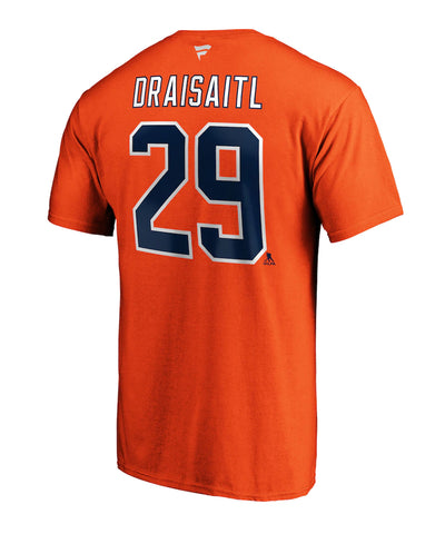 LEON DRAISAITL EDMONTON OILERS FANATICS WOMEN'S NAME AND NUMBER T SHIRT