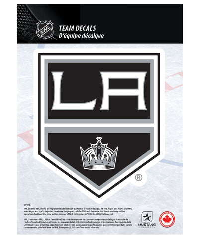 "LOS ANGELES KINGS 5"" X 7"" NHL TEAM DECAL"