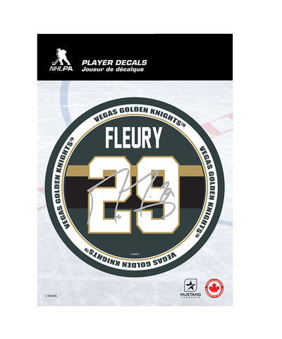 "MARC-ANDRE FLEURY VEGAS GOLDEN KNIGHTS 5""X7"" PLAYER DECAL"