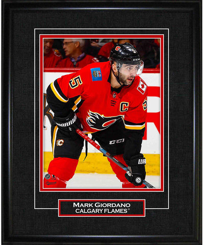 MARK GIORDANO CALGARY FLAMES AUTHENTIC FRAMED PRINT - 8X10