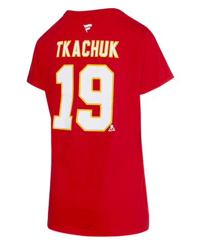 MATTHEW TKACHUK CALGARY FLAMES FANATICS MEN'S NAME AND NUMBER T SHIRT