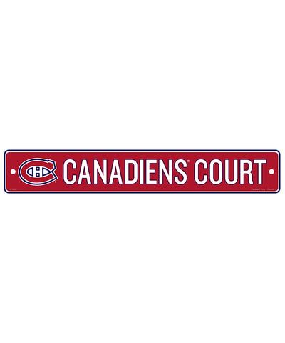 "MONTREAL CANADIENS 4""X23"" STANDARD STREET SIGN"