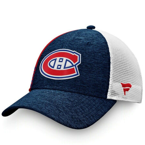 MONTREAL CANADIENS FANATICS MEN'S AP LOCKER ROOM STRUCTURED ADJUSTABLE MESH HAT
