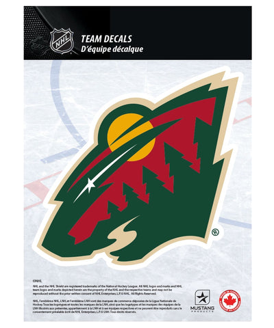 "MINNESOTA WILD 5"" X 7"" NHL TEAM DECAL"
