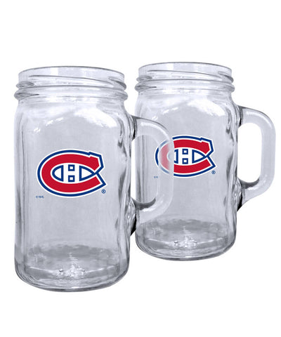 MONTREAL CANADIENS 2PK 16OZ MASON MUG SET