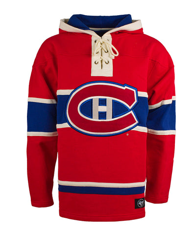 MONTREAL CANADIENS 47 BRAND MEN'S LACER HOCKEY HOODIE V2