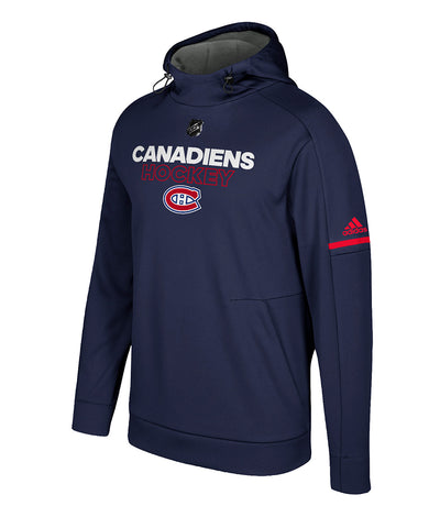 MONTREAL CANADIENS ADIDAS MEN'S AUTHENTIC PRO PLAYER HOODIE