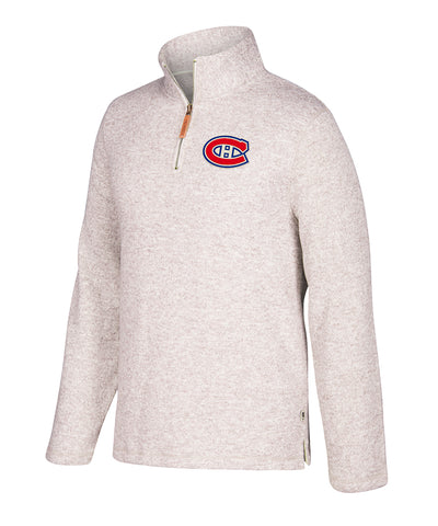 MONTREAL CANADIENS CCM 1/4 ZIP LONG SLEEVE SHIRT