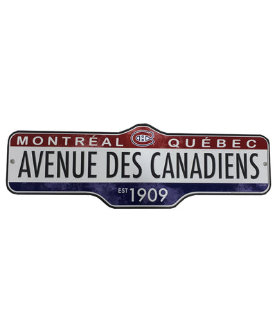 THE SPORTS VAULT MONTREAL CANADIENS STANDARD STREET SIGN